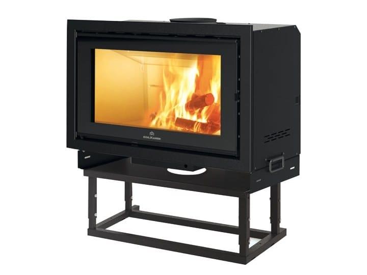 Wood-burning built-in fireplace SCREEN EVO 100 by EDILKAMIN