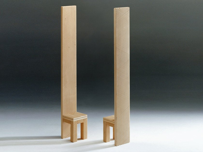 High-back wooden chair SE DIO | Chair by Mirabili