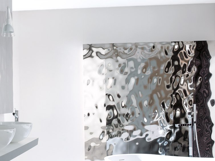 3D Wall Cladding with metal effect SEA SILVER by Venis