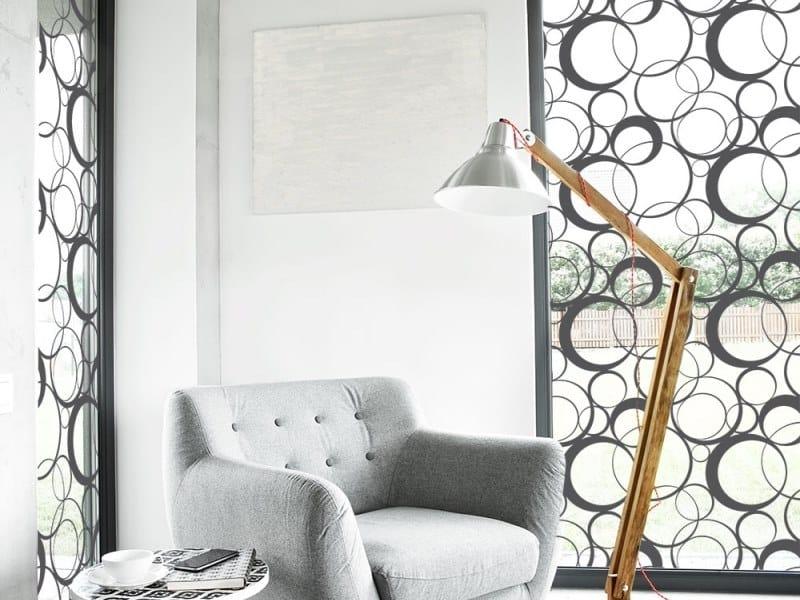 Adhesive decorative window film SEAM CIRCLES by ACTE-DECO