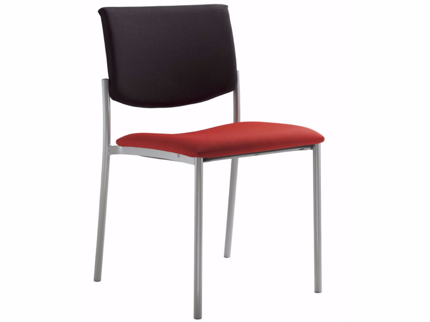 Stackable fabric training chair SEANCE 090 K-N by LD Seating