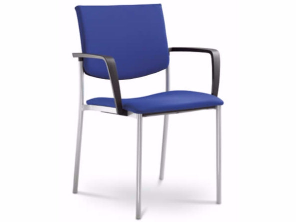 Stackable training chair with armrests SEANCE 093-K-B-N by LD Seating