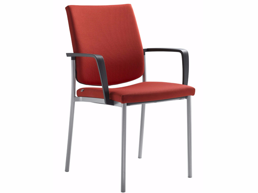 Stackable training chair with armrests SEANCE 095-K-B-N by LD Seating