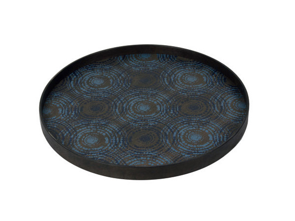 Round wooden tray SEASIDE BEADS by Notre Monde