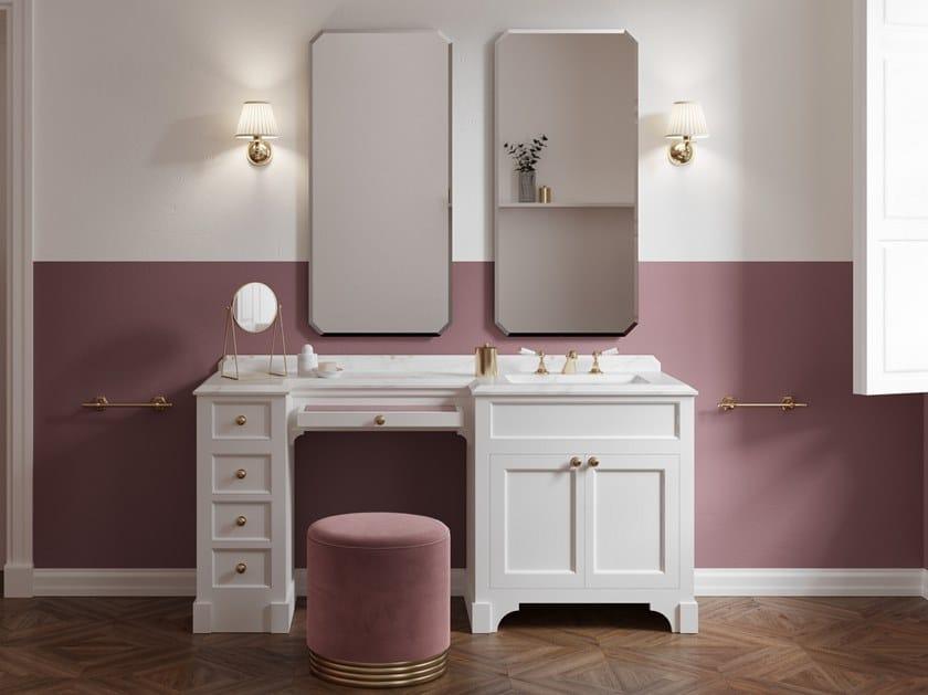 Wooden dressing table / vanity unit with marble top SEASON VANITY by Devon&Devon