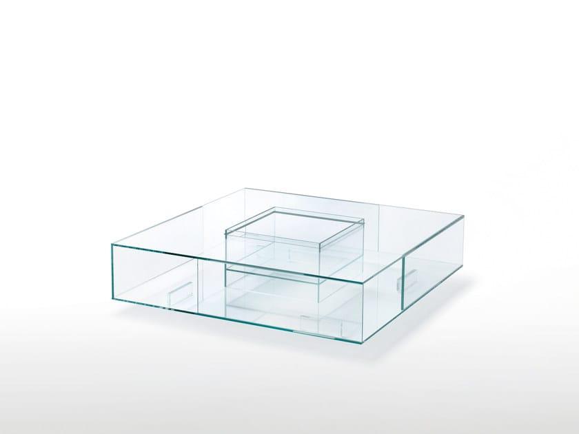 Tavolino Basso Cristallo.Tavolino Basso Quadrato In Cristallo Seasons By Glas Italia