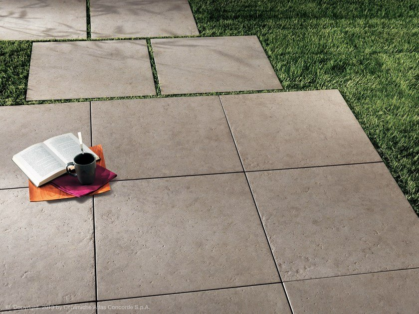 Porcelain Stoneware Outdoor Floor Tiles With Stone Effect Seastone By