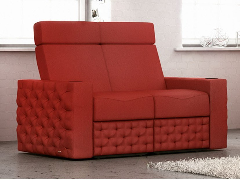 Sectional fabric Cinema armchair with motorised functions CHESTERFIELD | Sectional Cinema armchair by moovia