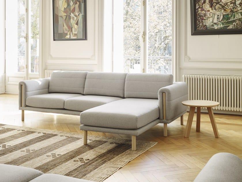 Divano in tessuto a 3 posti con chaise longue ABRIC | Divano con chaise longue by Bosc