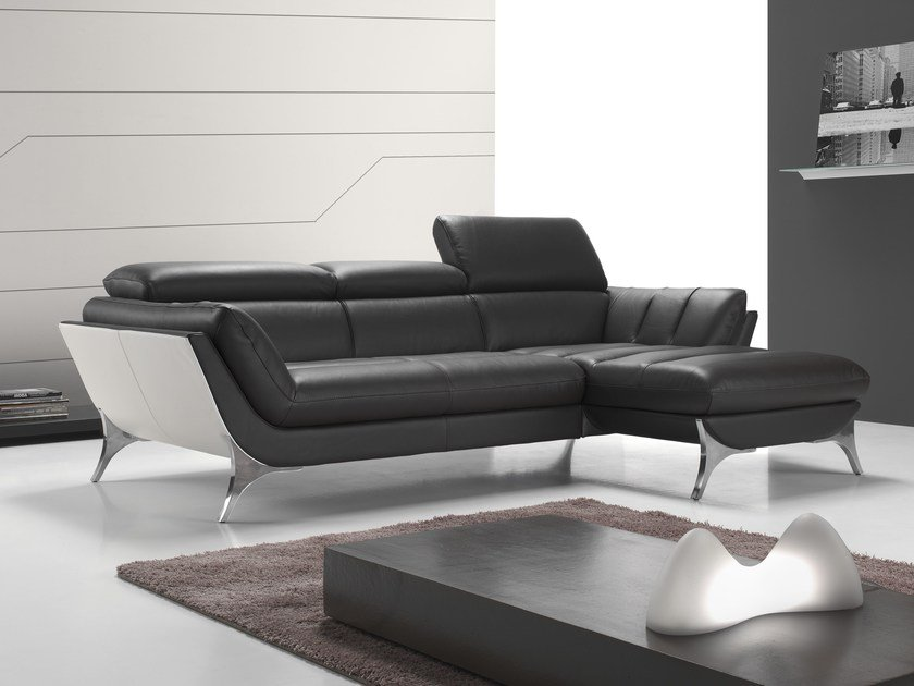 Sectional sofa with chaise longue SUELI NAKED by Egoitaliano