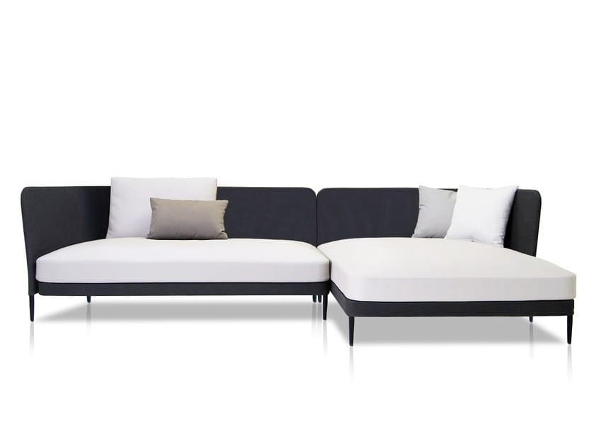 Sectional Batyline® sofa with chaise longue KÄBU   Sectional sofa by EXPORMIM