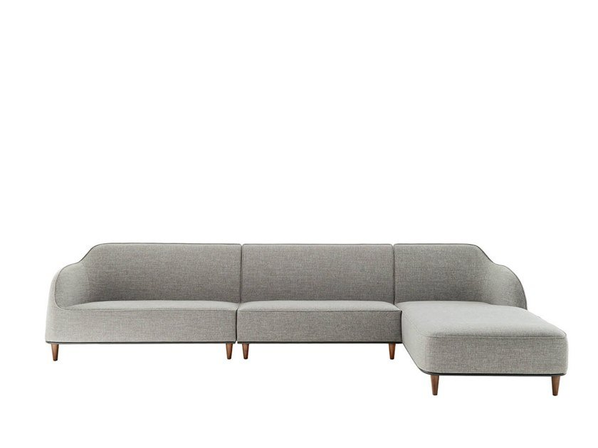 Sectional fabric sofa with chaise longue BEAR   Sectional sofa by HC28