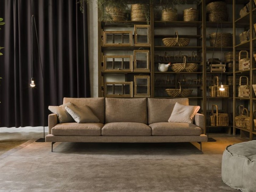 Sectional fabric sofa with removable cover LARSEN   Sectional sofa by Verzelloni