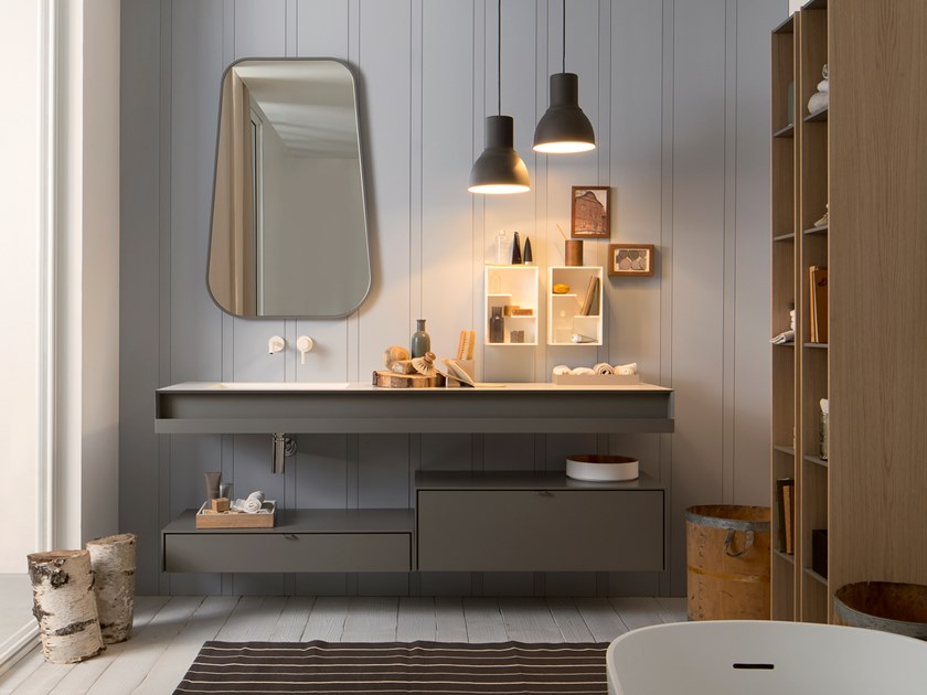 Lacquered vanity unit with drawers SAINT TROPEZ   Sectional vanity unit by Capo d'Opera
