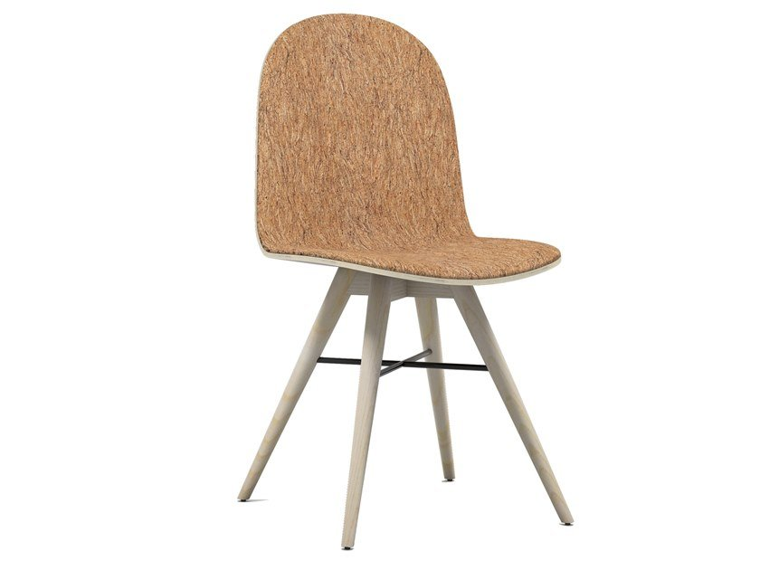 Upholstered solid wood chair SEED | Solid wood chair by AROUNDtheTREE