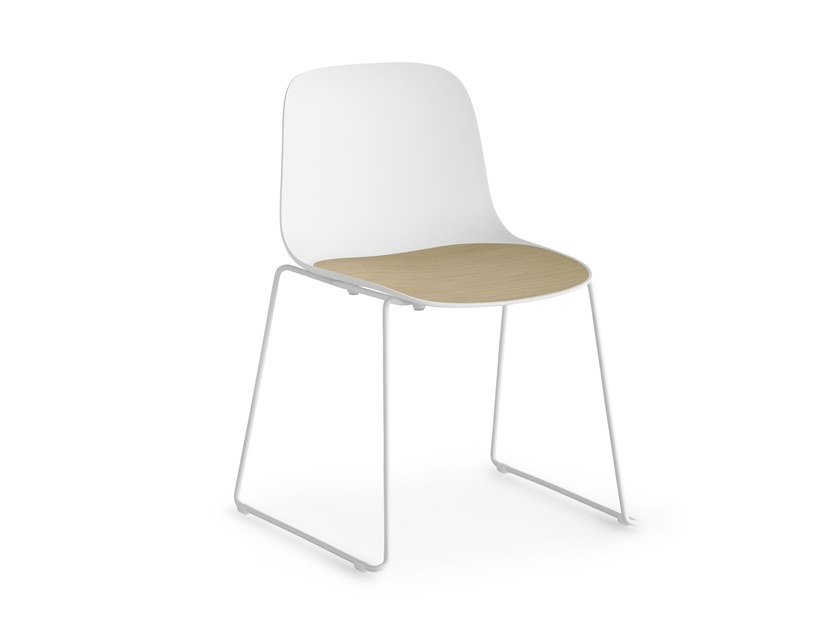 Sled base stackable polypropylene chair SEELA | Sled base chair by Lapalma
