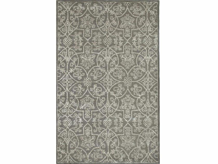 Patterned rug KAY TAQ-334 Medium Gray/Antique White by Jaipur Rugs