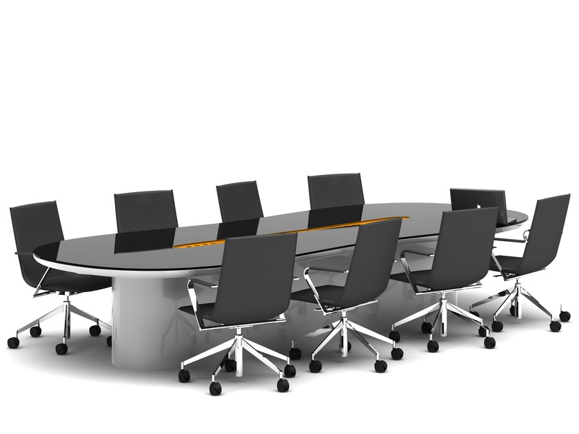 STREEM Meeting Table Streem Collection By Tuna Ofis Design Karim - White oval conference table