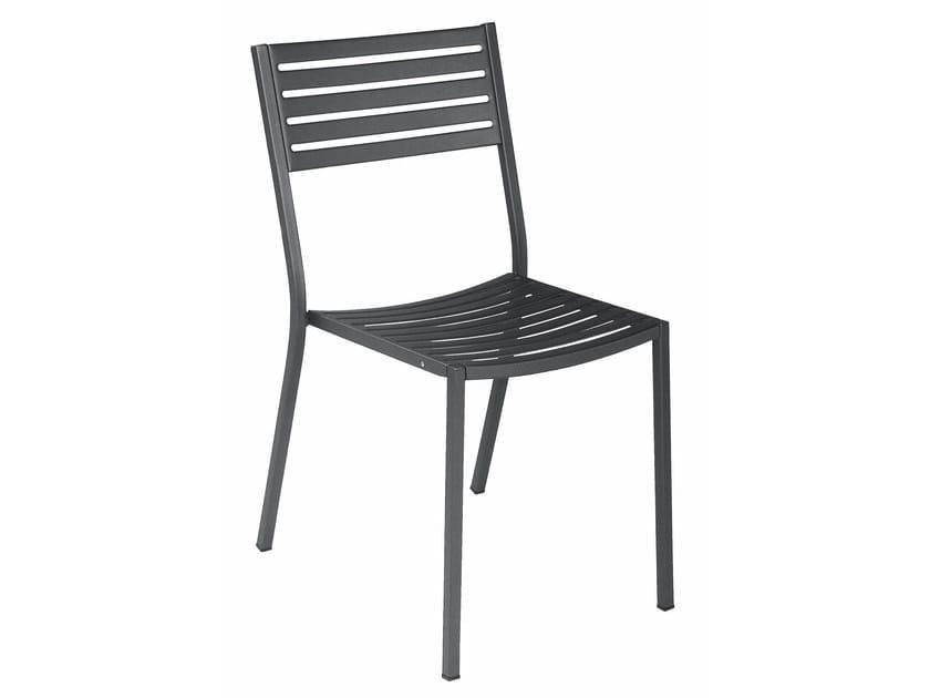 Sedia da giardino impilabile in acciaio SEGNO | Sedia by emu
