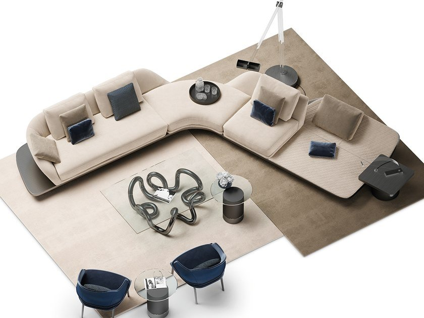 Sofa aus Leder mit Récamiere SEGNO | Sofa mit Récamiere by Reflex