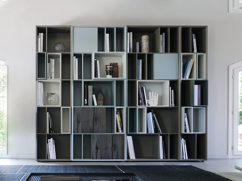 Open modular bookcase SEGRETI by Silenia