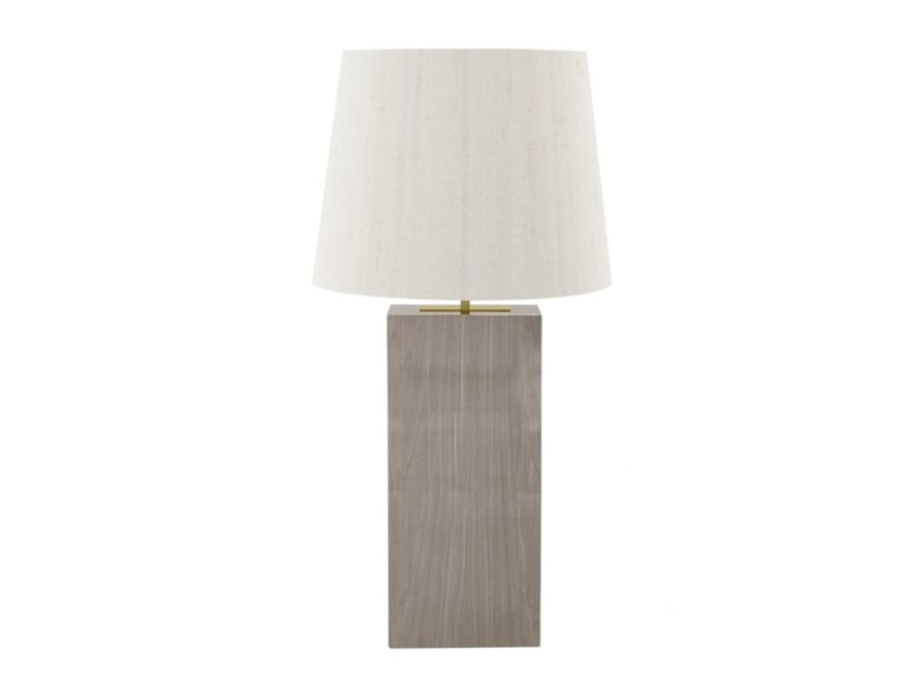 Indirect light wood veneer table lamp SEIA by FRATO