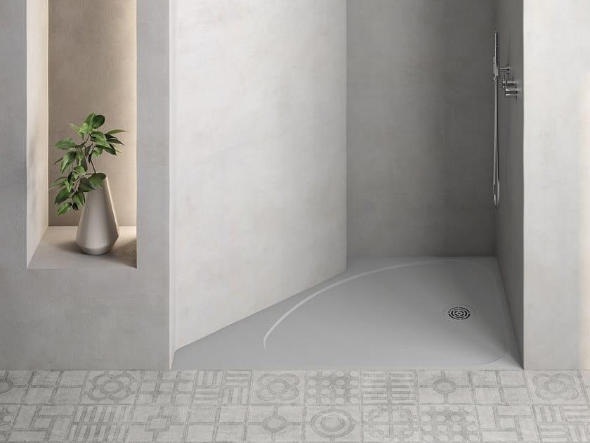 Piatto doccia angolare semicircolare SELECT | Piatto doccia angolare by Hidrobox