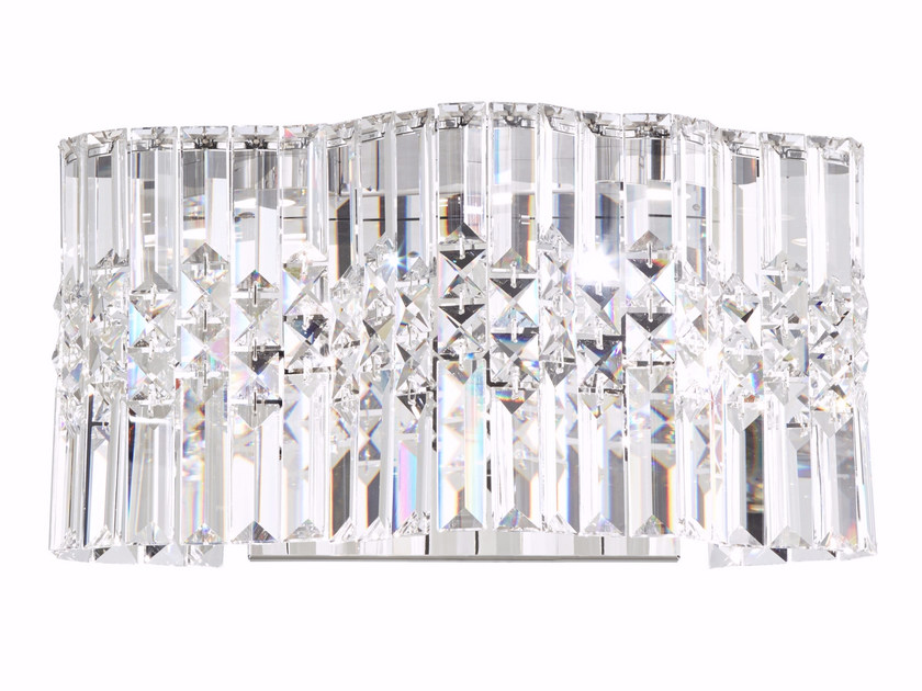 Selene wall light selene collection by swarovski led wall light with swarovski crystals with dimmer selene wall light by swarovski aloadofball Image collections