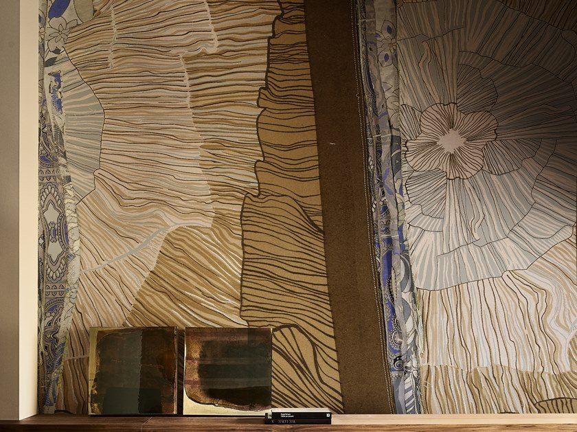 Motif wallpaper SELENITE by Wall&decò