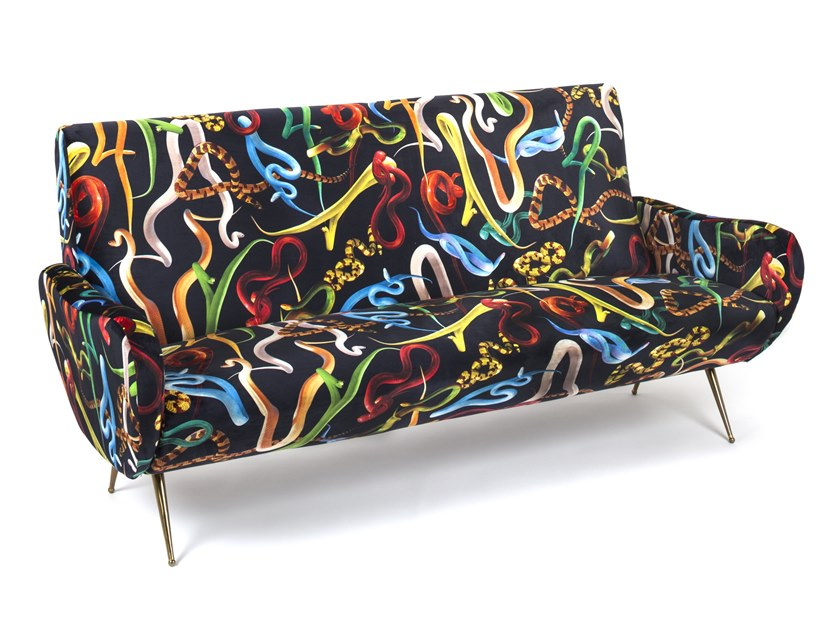 3 seater fabric sofa SELETTI WEARS TOILETPAPER | 3 seater sofa by Seletti