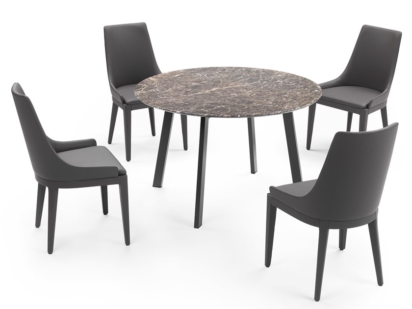 Round marble table SELF | Round table by Marelli
