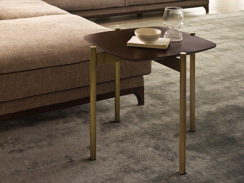 Wood veneer coffee table for living room SELFY | Square coffee table by CTS SALOTTI