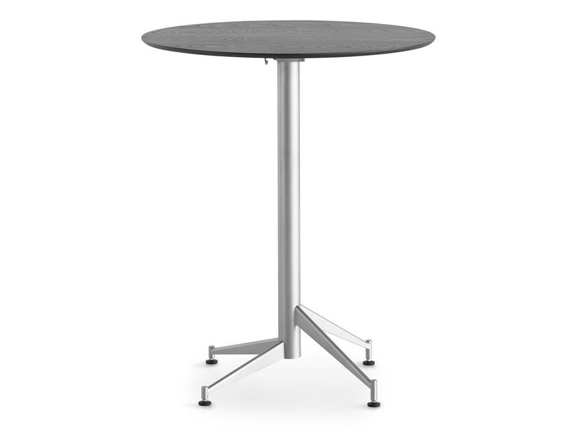 Round drop-leaf high table SELTZ | High table by Lapalma