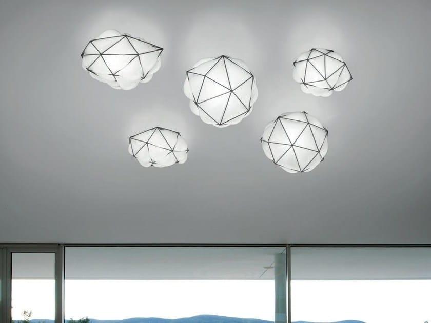 LED direct light blown glass ceiling lamp SEMAI AP by Vetreria Vistosi