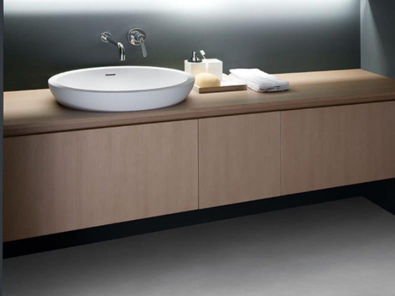 Semi-inset oval Cristalplant® washbasin SPOON XL   Semi-inset washbasin by Agape