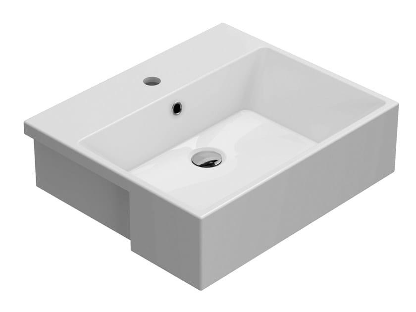 Lavabo a semincasso rettangolare in ceramica FORTY3   Lavabo a semincasso by Ceramica Globo