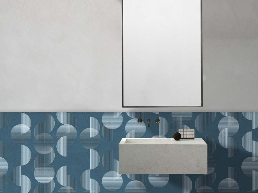Wall tiles / wallpaper SEMICERCHI BLU by Officinarkitettura®