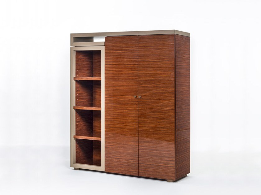 Tall rosewood office storage unit SENATO | Tall office storage unit by OAK