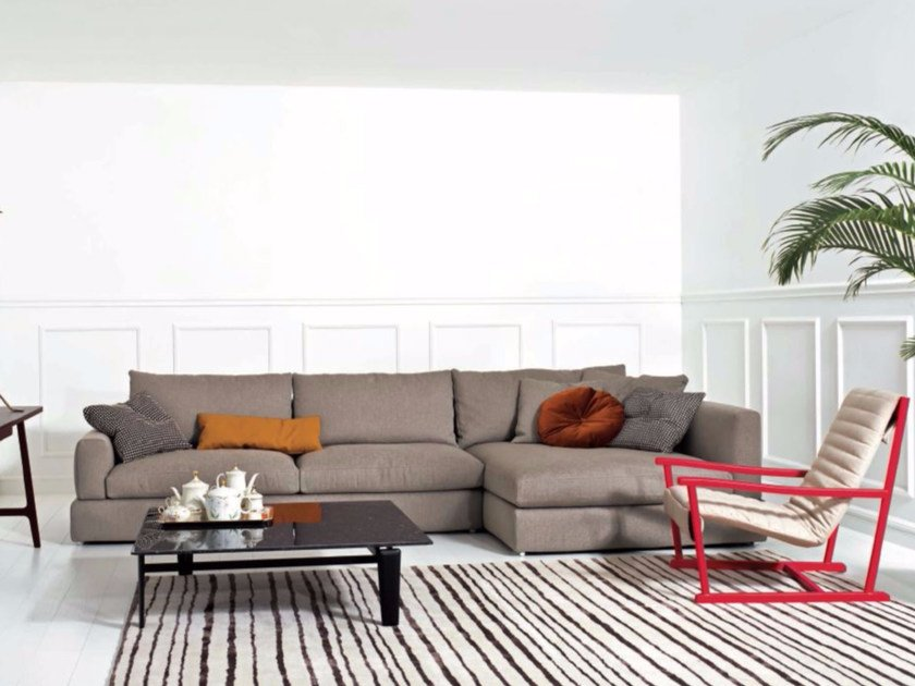 Corner fabric sofa with chaise longue SENNA | Sofa with chaise longue by arflex