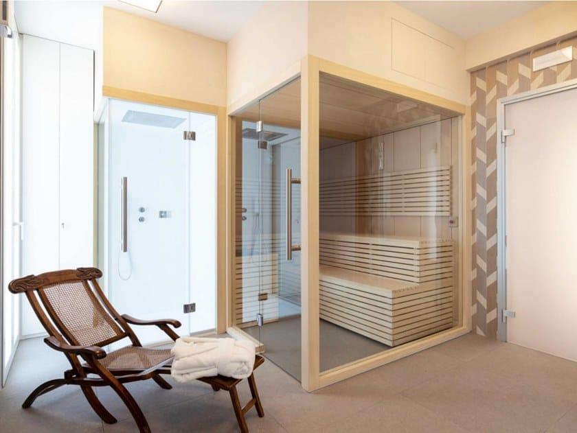 Sauna finlandese professionale prefabbricata SENSATION PRO | Sauna by CARMENTA