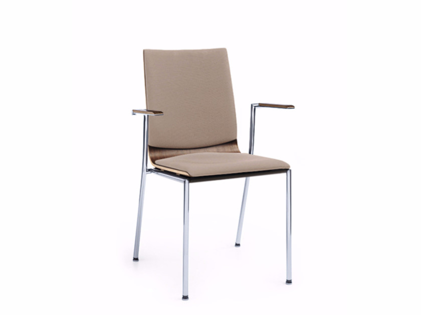 Stackable training chair with armrests SENSI K3H by profim