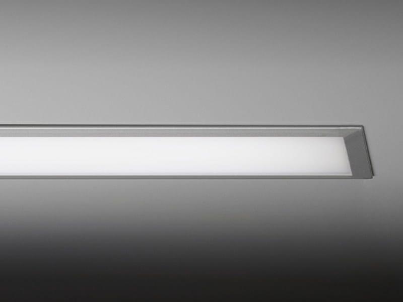 LED direct light recessed aluminium ceiling lamp SENTIERO INCASSO by PURALUCE