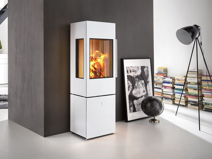 Wood-burning Central steel stove SEO L by SPARTHERM