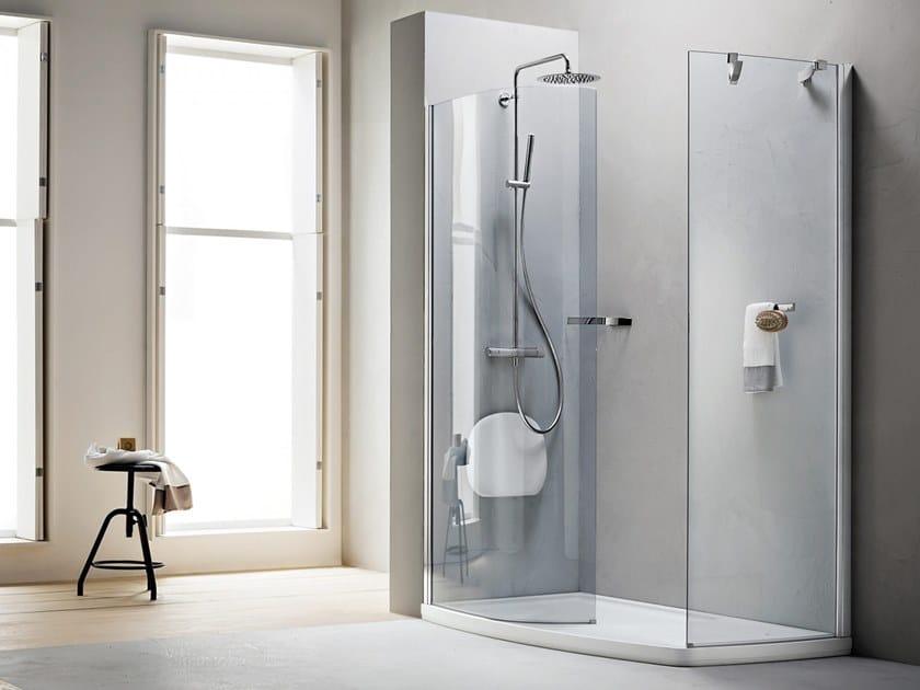 Corner Walk in shower with tray SEPATET AQUA   Walk in shower by ARBLU