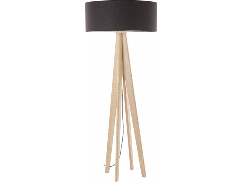 Wooden floor lamp SEPIA by Flam & Luce