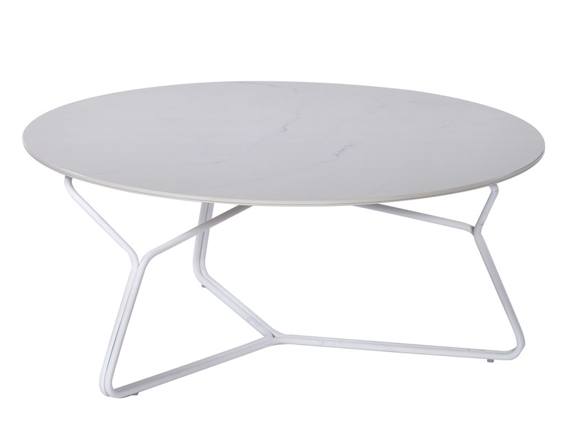 Round ceramic garden side table SERAC   Coffee table by OASIQ