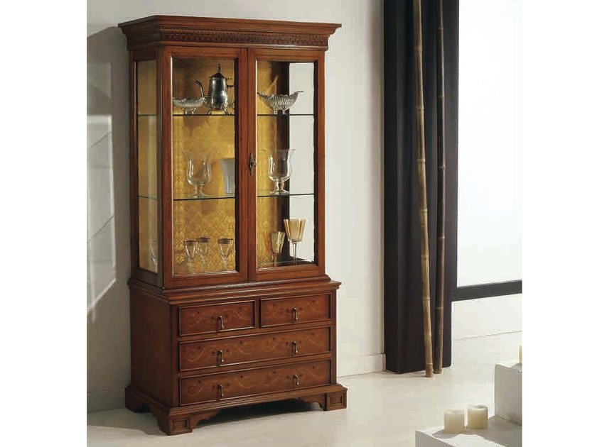 Solid wood display cabinet SERENA by Arvestyle