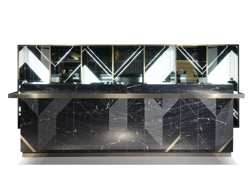 Marble bar cabinet SERENDIPITY by Visionnaire