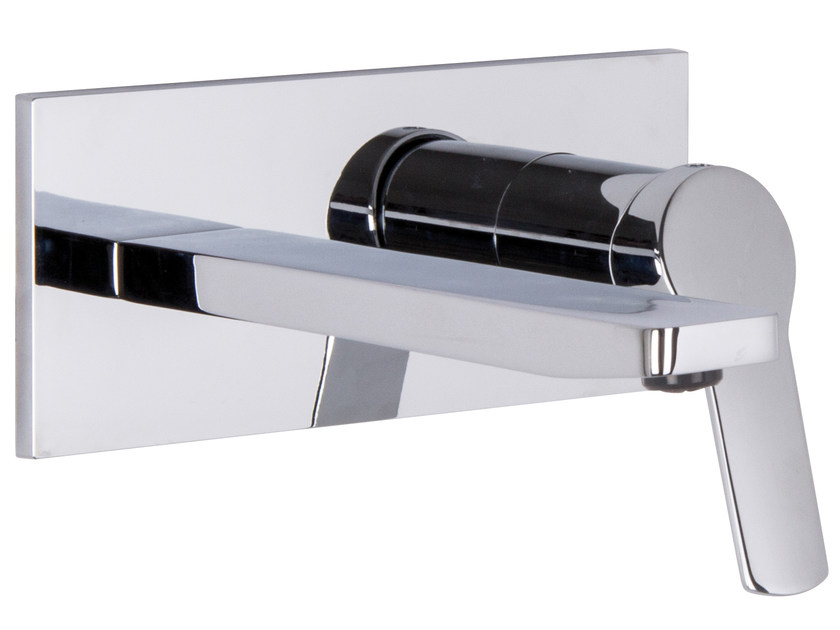 Wall-mounted washbasin mixer with plate SERIE 4 F3760X5 | Washbasin mixer by FIMA Carlo Frattini