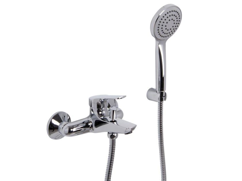 Wall-mounted bathtub mixer with hand shower SERIE 4 F3764   Bathtub mixer by FIMA Carlo Frattini